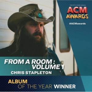 Christ Stapleton wins Album of the Year at the 2018 ACM Awards.